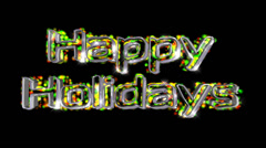 Happy Holidays pre-keyed production element font and fx variation 5 - stock footage