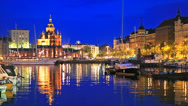 Stock Video Footage of The Old Port in Helsinki, Finland