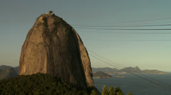 Cable car in Sugarloaf - stock footage