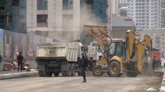 Construction in Baku, Azerbaijan Stock Footage