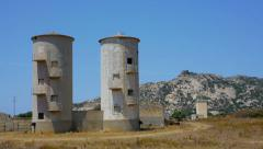 Abandoned silos Stock Footage