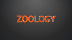 Zoology icon. Stock Footage