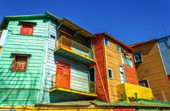 Bright Colors in Buenos Aires Stock Photos