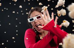 3d cinema experience Stock Photos