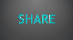 Share icon. Stock Footage