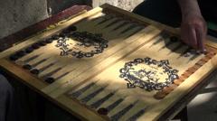 Playing backgammon in Baku Stock Footage