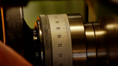 The Fine Adjustment Of The Lathe - stock footage
