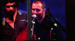 Jazz festival camera crane Stock Footage