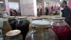 Bazaar in Baku, Azerbaijan Stock Footage