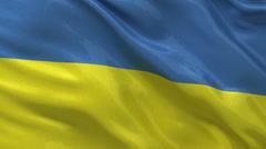 Seamless loop of the Ukrainian flag Stock Footage