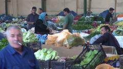 Central market in Baku Stock Footage