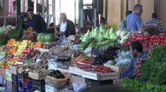 Market in Baku Stock Footage