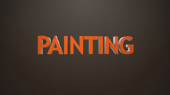 Painting icon. Stock Footage