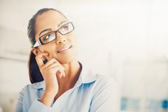 indian business woman thinking future - stock photo