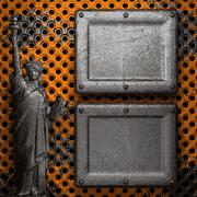 Stock Illustration of old metal background