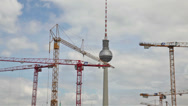 Stock Video Footage of Cranes over Berlin, Germany