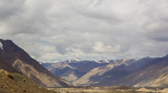 Clouds over glacier Inylchek. Kirgystan, central Tien Shan Stock Footage