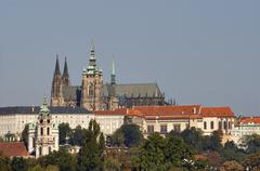 hradcany - cathedral of st vitus on the prague castle - stock photo
