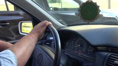 Taxi driver, hands, Baku, muslim Stock Footage