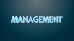 Management icon. Stock Footage