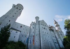neuschwanstein castle in bavaria - stock photo