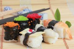 Sushi japanese food o Stock Photos