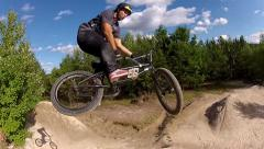 Bmx crash on barspin attempt Stock Footage