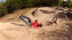 Bmx tailwhip crash Stock Footage