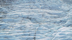 Aerial view Knik Glacier constantly moving, Alaska, USA Stock Footage