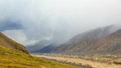 Rain in the mountains. Kirgystan, central Tien Shan Stock Footage