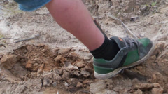 Shovelling dirt Stock Footage