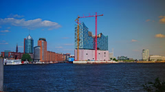 Hafencity  Hamburg,time lapse Stock Footage