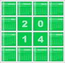 Stock Illustration of annual calendar for 2014