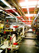 Cab body welding assembly line2 Stock Photos