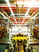 cab body welding assembly line3 - stock photo