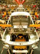car assembly line - stock photo