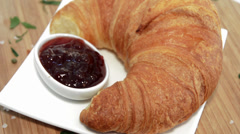 Rotating Croissant with Jam Stock Footage