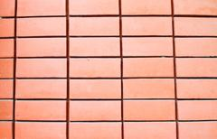 pattern of red brick wall - stock photo