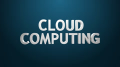 Cloud computing-kuvaketta. Arkistovideo