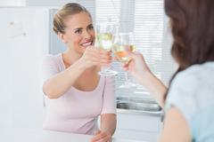 Stock Photo of Radiant women having a toast