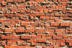 Rugged Brick Wall Stock Photos