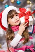 xmas girl - stock photo