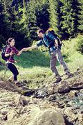 Hiking couple Stock Photos
