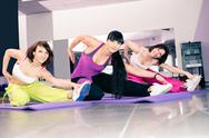 Stock Photo of aerobics girls