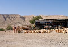 shop on desert - stock photo