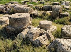 caesarea maritima ruins - stock photo