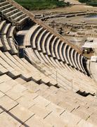 caesarea theatre - stock photo