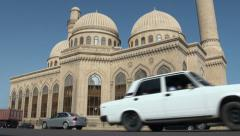Mosque, Baku, traffic, Azerbaijan Stock Footage