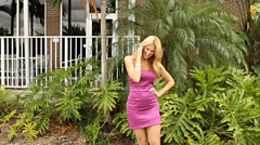 Happy positive beautiful blond businesswoman Stock Footage