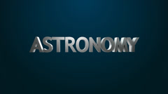 Astronomy icon. Stock Footage